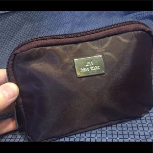 JM New York's Brown Polyester Makeup Bag